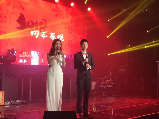 南加高校華人留學生團體組織的2018狗年春晚在好萊塢勁爆登場。(記者高梓原/攝影)