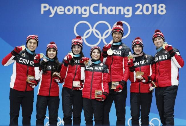 加拿大今天拿下南韓平昌冬奧花式滑冰團體賽金牌。歐新社