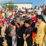 中華學苑春節園遊會 為台地震受難者默哀