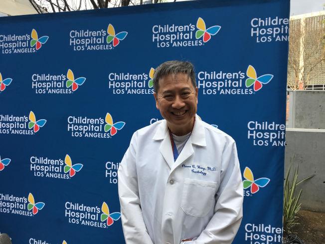 洛杉磯兒童醫院心臟科醫師黃博立。(記者張越/攝影)