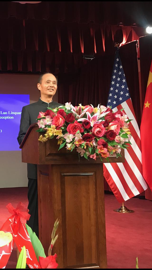 羅林泉在新年賀詞中期望廣大華僑華人繼續為中美關係健康穩定發展做出貢獻。(記者黃少華/攝影)