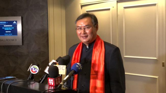中國駐洛杉磯總領館總領事張平。(記者王若然╱攝影)