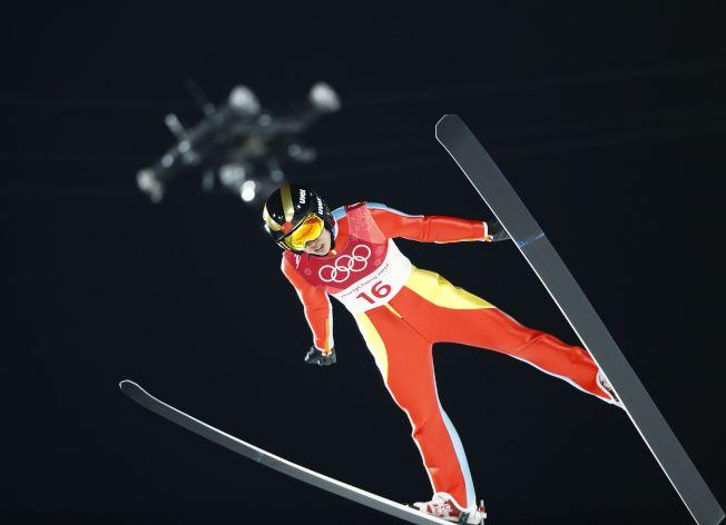 常馨月完成跳台滑雪決賽,拿下第20名。(路透)
