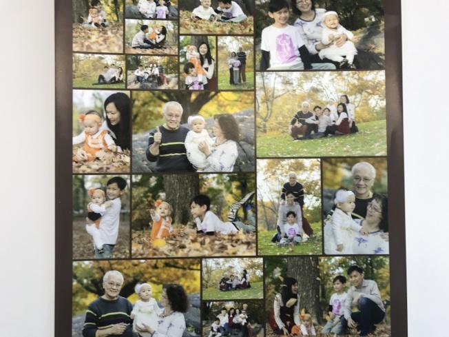 廖桂興和何錦柏現有一雙孫子、孫女,表示幸福生活就要來了。(記者牟蘭/翻拍)