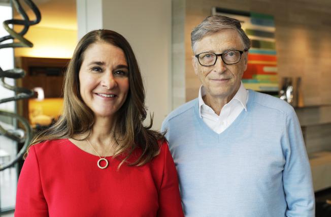 微軟創辦人蓋茲夫婦在年度公開信中,呼籲川普總統要更尊重他人。(美聯社)