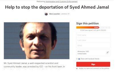 呼籲赦免Syed Ahmed Jamal的網上簽名已逾97500個。(change.org)