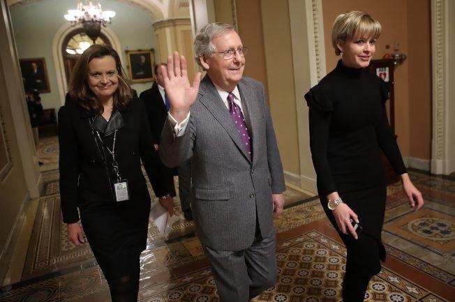 國會參院多數黨領袖麥康諾說,移民改革「沒有理由本周不能達成」。(Getty Images)