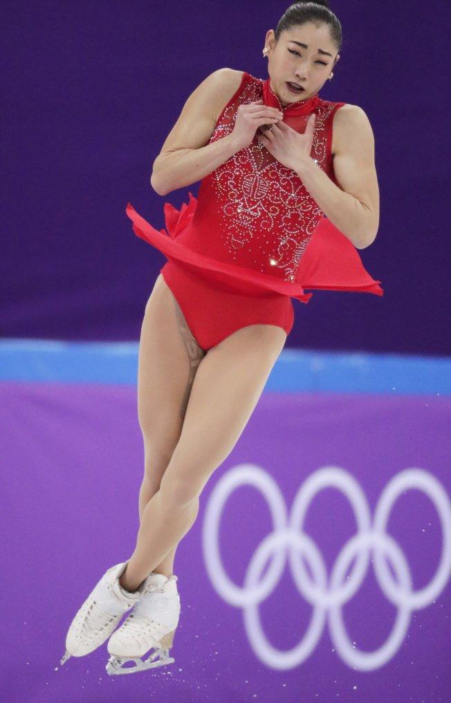 長洲未來在冬奧做出艾克索三周半跳,寫下美國女子花滑歷史。(美聯社)