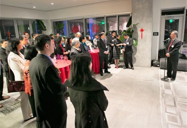 中領館在奧斯汀舉辦華人科學家春節招待會。 (中領館提供)