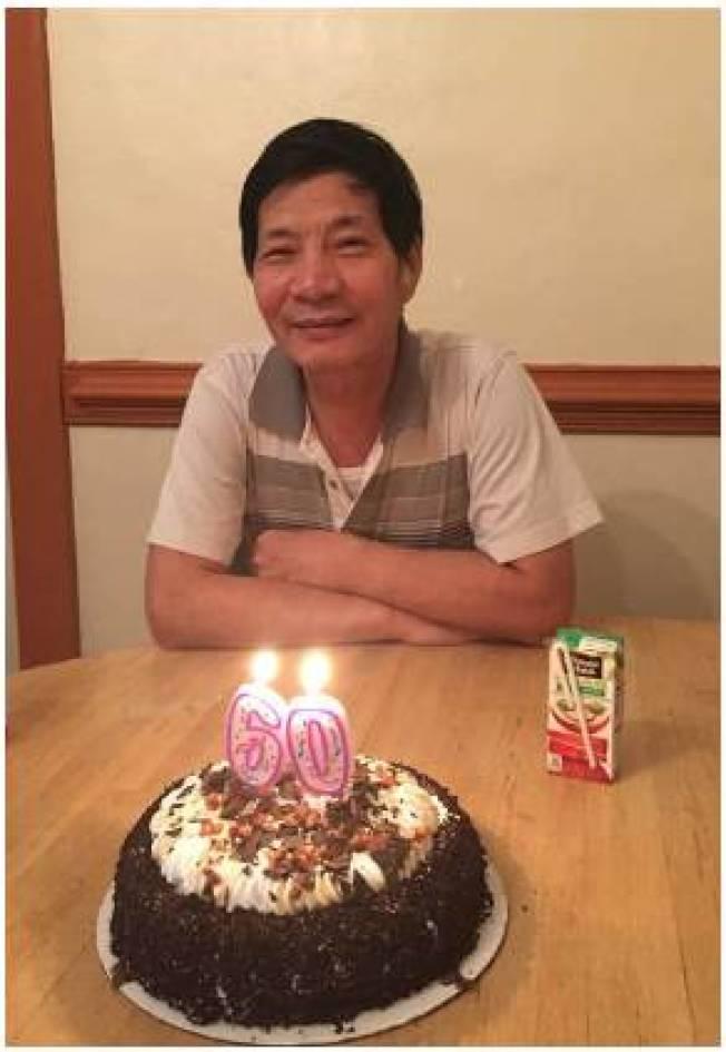 剛過完60歲生日的陳建生,去年春節前夕在住家社區「抓寶」被保安開槍殺死。(陳建生家屬提供)