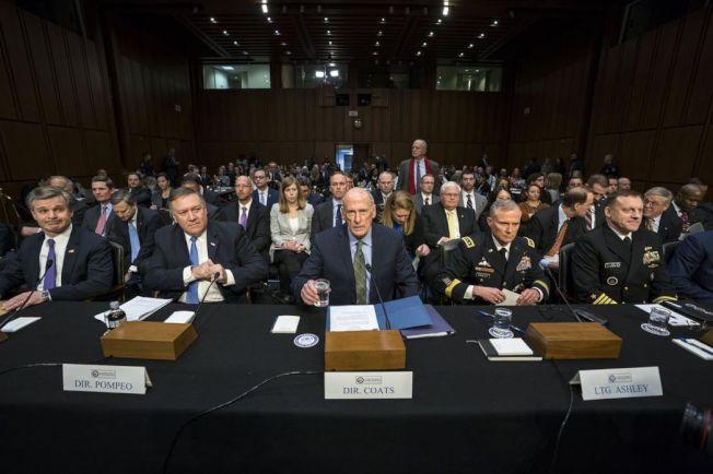 美國6家情治機構首長,齊赴參院作證。 (歐新社)