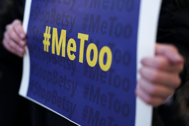 「我也是」運動反對性騷擾。(Getty Images)