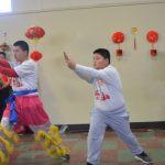 阿縣慶春節 華人父女看舞獅表演