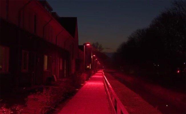 荷蘭中部城鎮巴內維德(Barneveld)推出「紅光路燈」,以保護蝙蝠,卻卻引起居民反彈,怒批像阿姆斯特丹紅燈區。 圖擷自荷蘭廣播基金會(NOS)