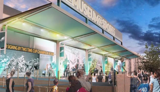 費城明年將對外開放的體育博物館示意圖。(Museum of Sports)