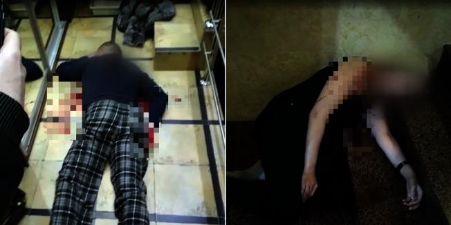 由便衣警察假扮的殺手讓男子父母假裝被殺死。圖擷自鏡報