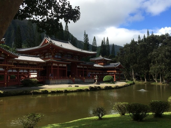檀香山的Byodo-In Temple,1968年開放以紀念首批日本移民此地100周年。