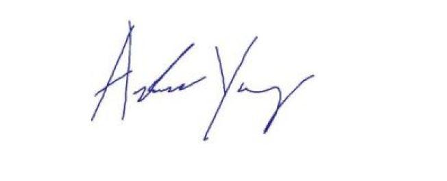楊安澤英文簽名