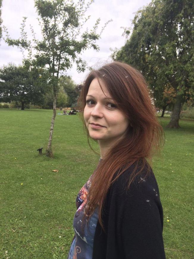 被控叛國的前俄國間諜史柯里帕(Sergei Skripal)的33歲女兒尤莉亞,和父親同遭下毒,性命垂危。美聯社