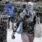 〈圖輯〉美東暴風雪中的城市風景