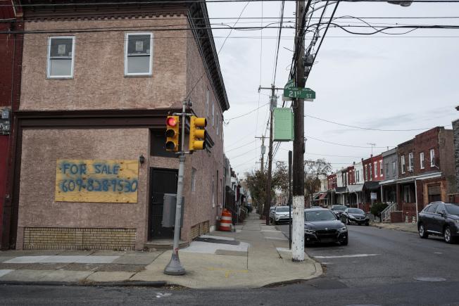 費城一處低收入社區。(美聯社)