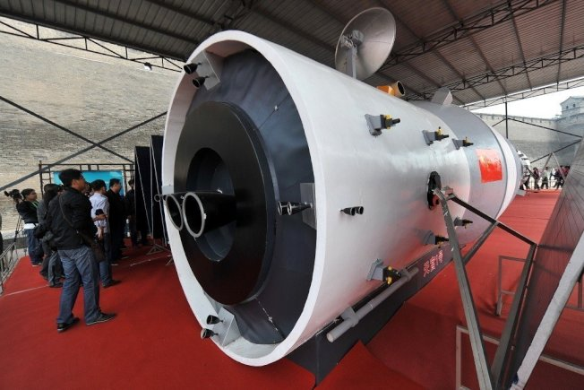中國首個太空實驗室「天宮一號」的殘骸可能將於3月底或4月初墜回地球。(本報資料照片)