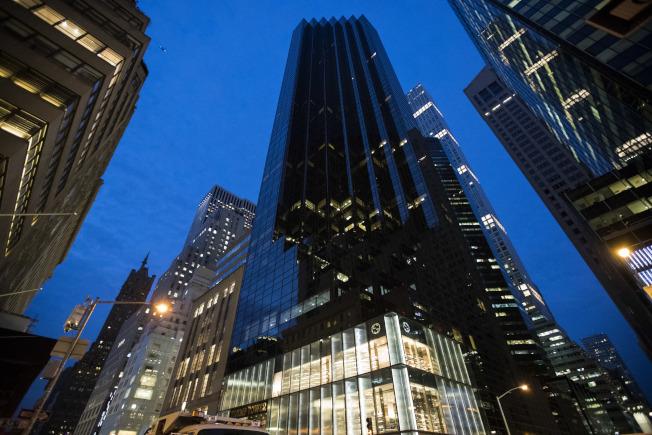 圖為紐約曼哈頓川普大廈。(Getty Images)