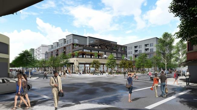 柏克萊四街1900號一停車場上,將建起包含260戶多家庭住房的項目,其中50%可負擔住房,預計最多入住400人。(發展商供圖)