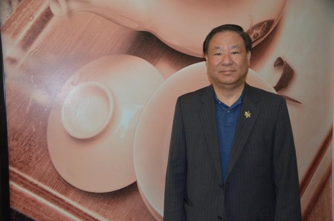 宣布競選台北市長的葛永光在洛杉磯暢談政見。(記者王全秀子/攝影)