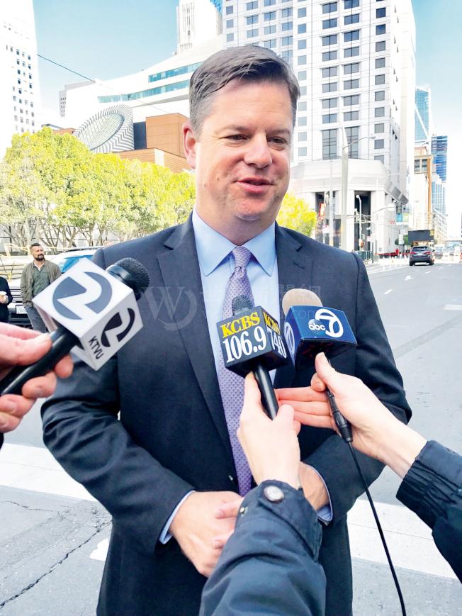 市長麥法恩重申舊金山將繼續推行「庇護城市」政策。(記者黃少華╱攝影)