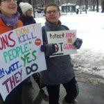 Walkout波士頓現場/不畏風雪 學生雪中抗議