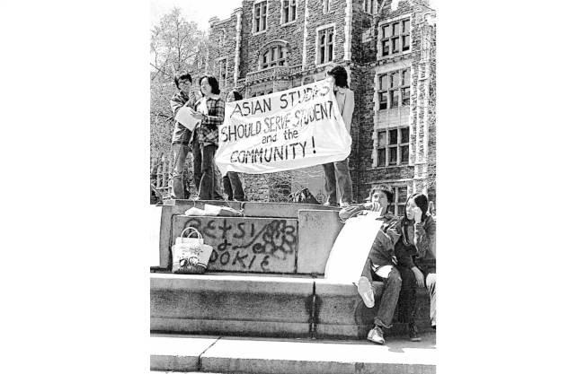 陳倩雯在大學時代便積極參與到民權運動中。(陳倩雯提供)