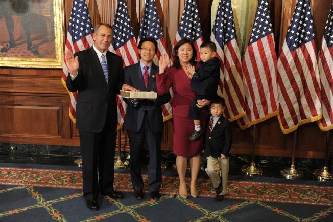 孟昭文是美東首位亞裔國會議員。(本報資料照片)