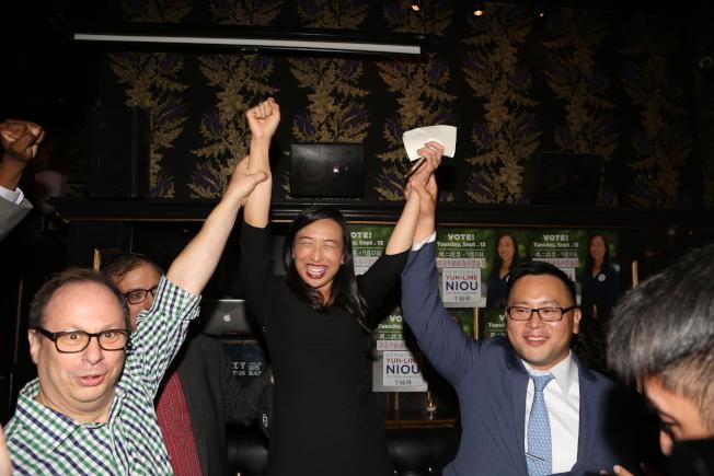 牛毓琳勝選代表曼哈頓華埠與下東城的第65選區州眾議員,寫下歷史。(洪群超/攝影)