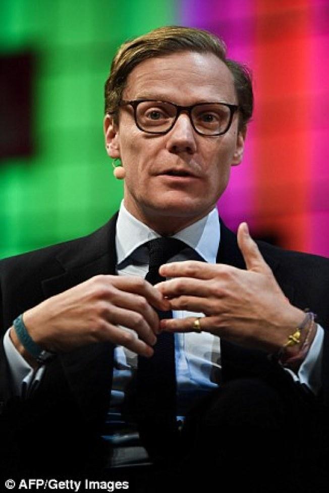 劍橋分析公司的總裁 Alexander Nix辯稱沒有提供臉書資料給川普競選團隊。 (Getty Images)