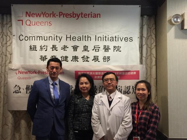 紐約長老會皇后醫院17日上午舉辦健康講座,邀請鼻喉科、內科主治醫生到場向民眾宣導健康知識。(記者林群/攝影)