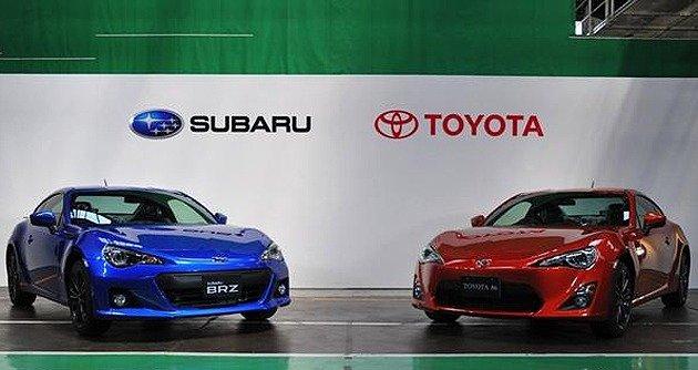 BRZ與86為兩個品牌雙生車。 Toyota提供