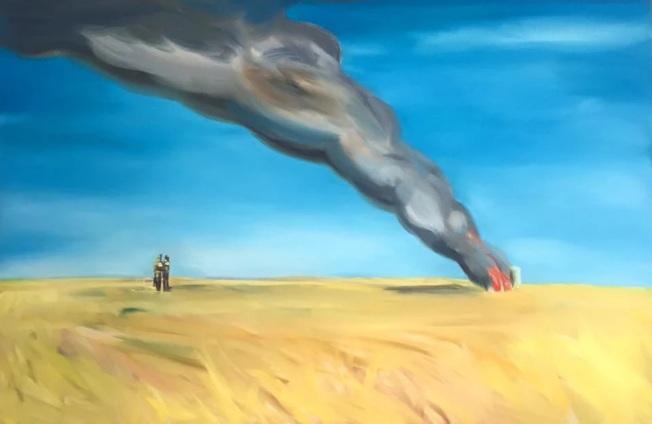 Stephen Lack作品「Burning Past」。(記者王若馨/攝影)