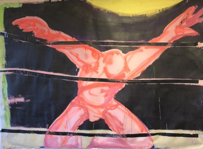 Stephen Lack作品「On The Ropes」。(記者王若馨/攝影)