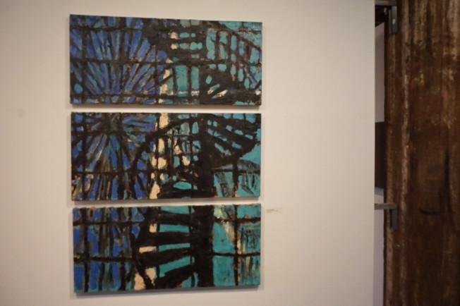 Jonathan Weinberg作品「Pier 45 Spiral Staircase」。(記者王若馨/攝影)