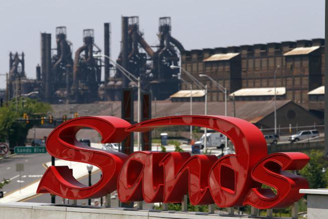 金沙賭場就蓋在賓州伯利恆鋼廠上。(美聯社)