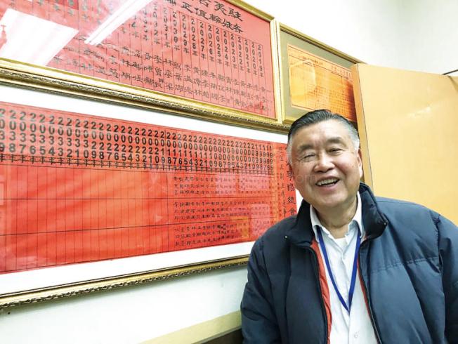 寧陽總會館主席許可立自今年初擔任中華總會館總董以來,努力爭取市府禁止大麻店進華埠。(本報檔案照片,記者李秀蘭攝影)