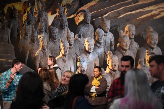 美國藝術博物館舉辦兵馬俑特展,展品多達130餘件。(新華社)