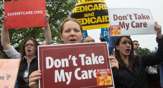 國會和政府為削弱歐記健保而採取行動,導致一些健保公司退出市場,其他公司則大幅調漲保費。(Getty Images)