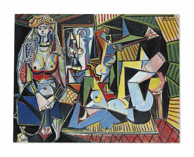 畢卡索油畫「阿爾及爾女人(O版),2015年拍出1.79億美元。(佳士得官網)