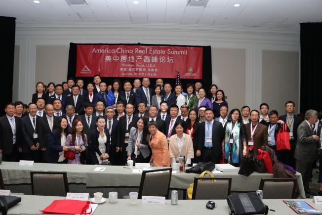 中國房地產業協會一行,來休士頓參加「美中房地產高峰論壇」。