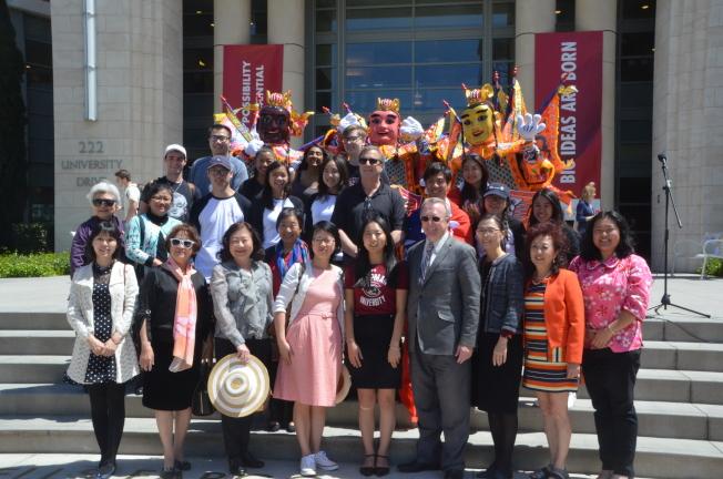 查普曼大學台灣文化遊園會得到校方和社區支持。(記者王全秀子/攝影)