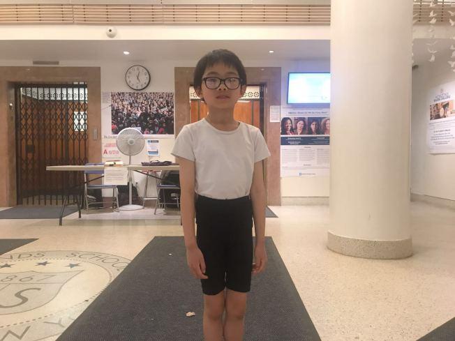 張哲宇四歲時就想成為一名芭蕾舞者,當日參加美國芭蕾學院試鏡選拔。(記者牟蘭/攝影)