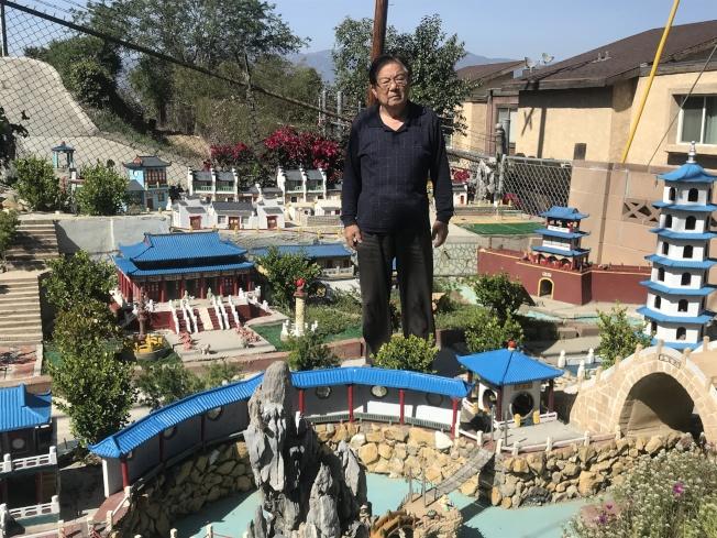 徐群用12年在庭院內打造微縮蘇州園林——湘園。(記者高梓原/攝影)