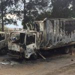 華資公司卡車 不明原因焚燒